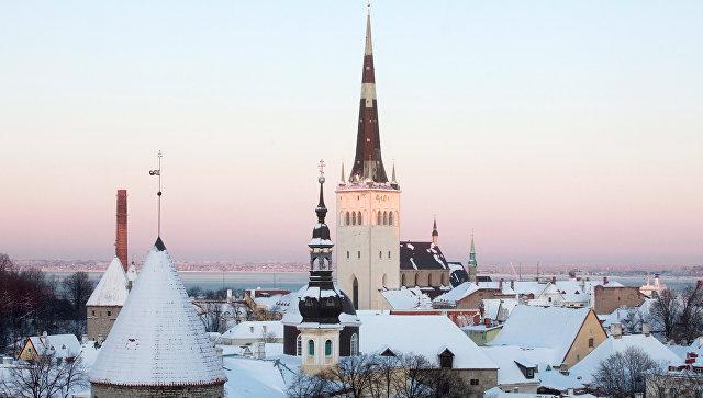 Вид на исторический центр Таллина. Архивное фото