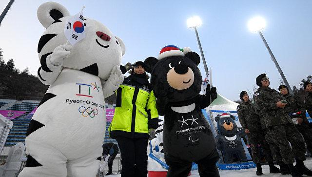 Талисманы зимних Олимпийских игр 2018 и зимних Паралимпийских игр 2018 в Пхенчхане. Архивное фото