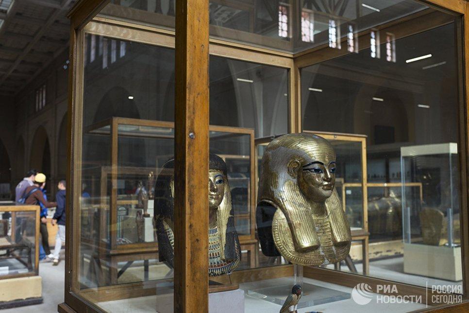 Экспонаты из гробниц Юйи и Туйи в Каирском египетском музее