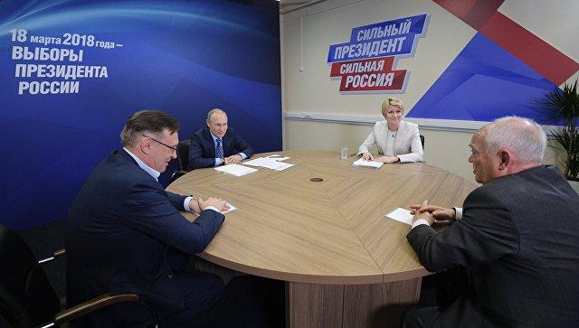 Путин сегодня посетит собственный московский предвыборный штаб