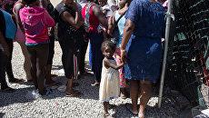 Мигранты из Гаити, ищущие убежища в США, на границе страны. Архивное фото