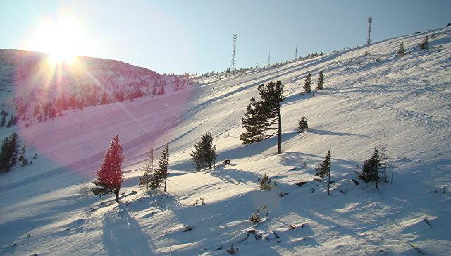 Вид на трассу горнолыжного комплекса Гладенькая в Хакасии. Архивное фото