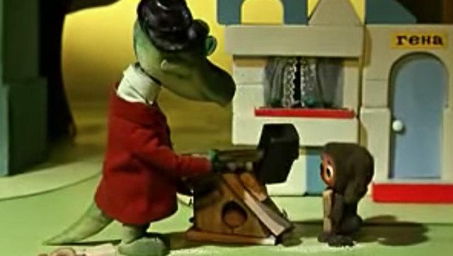 Кадр из мультфильма Чебурашка