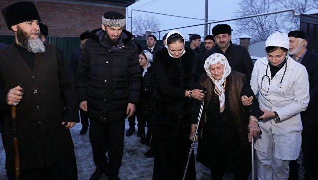 104-летняя Мадина Алиева в Грозном. 15 января 2018