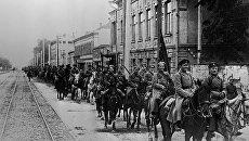 Вступление конных частей Красной Армии в Казань. 1918 год