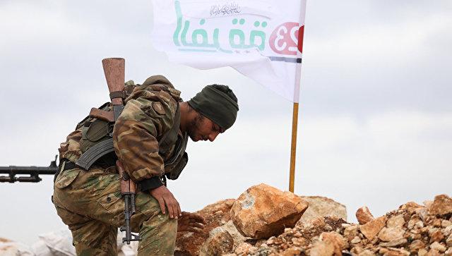 На контрольном пункте возле сирийской деревни Кила, недалеко от границы с Турцией. 21 января 2018