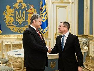 Встреча президента Украины Петр Порошенко с спецпредставителем США Куртом Волкером. 23 января 2018