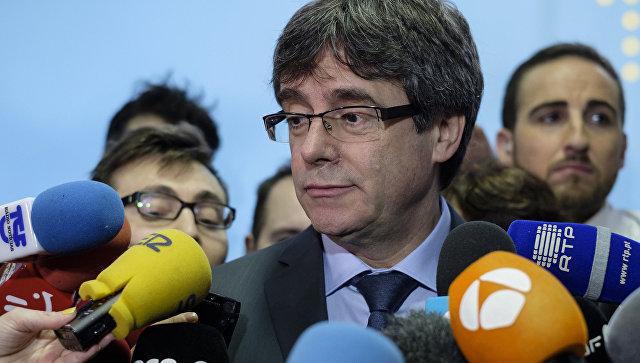 Экс-председатель каталонского правительства Карлес Пучдемон. 24 января 2018