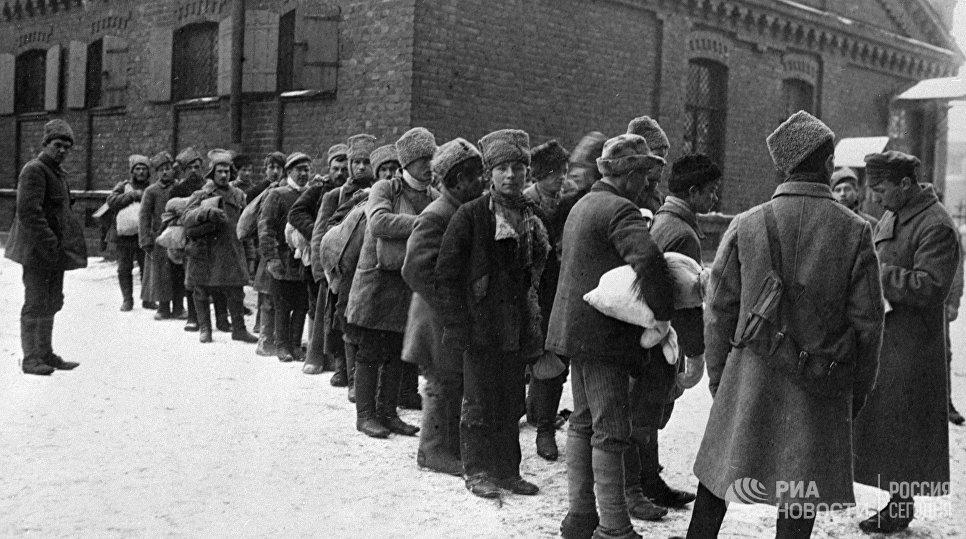 Первый призыв в Рабоче-Крестьянскую Красную Армию. Январь 1918