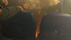 Пассажиры самолета А310 тушили загоревшийся аккумулятор от телефона