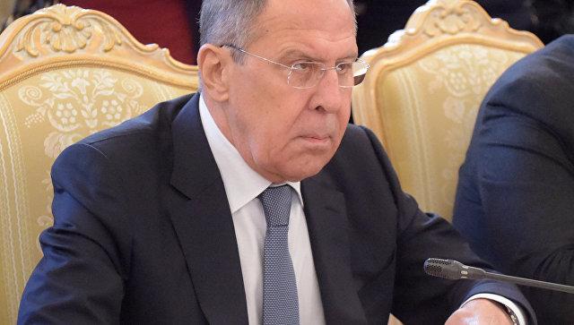 Сергей Лавров во время встречи в Москве с министром иностранных дел Италии Анджелино Альфано. 1 февраля 2018