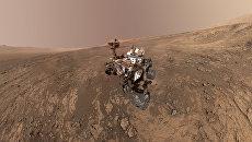 Селфи марсохода Curiosity на хребте имени Веры Рубин на Марсе. 23 января 2018 года