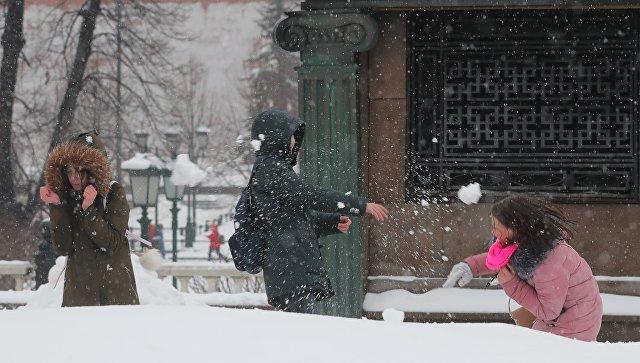 Субботний снегопад стал для столицы рекордным поколичеству выпавших осадков