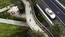 Визуализация моста на парком в ЖК «Символ»