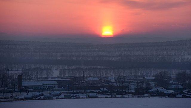 Зимнее солнце. Архивное
