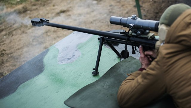 Снайперская крупнокалиберная винтовка. Архивное фото