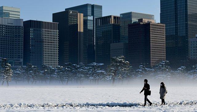 Последствия снегопада в Токио, Япония. Архивное фото