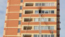 Пожар на улице Салмышинской в Оренбурге