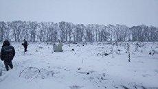 Обломки на месте крушения самолета Ан-148 авиакомпании Саратовские авиалинии. Архивное фото