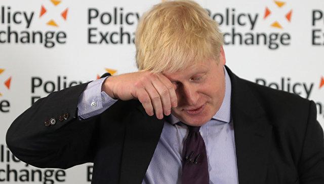Борис Джонсон во время речи Дорога к Brexit: Соединенное королевство