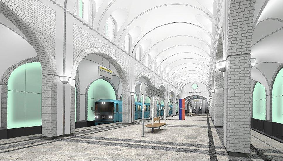 Визуализация проекта станции Селигерская. Архивное фото