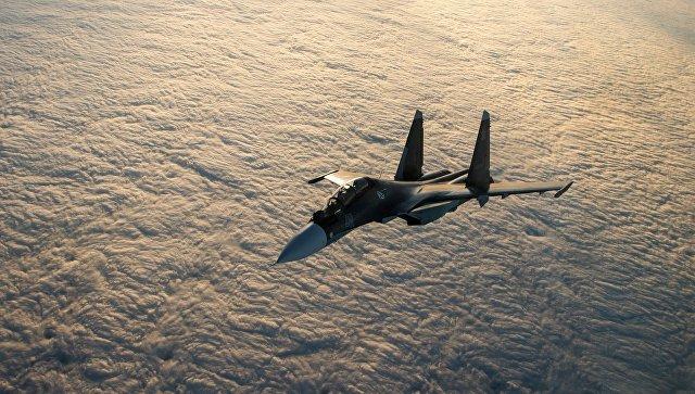Летчики ВМФ России впервые отработали дозаправку в воздухе на Су-30СМ