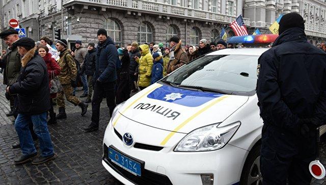 Полиция в Киеве. архивное фото