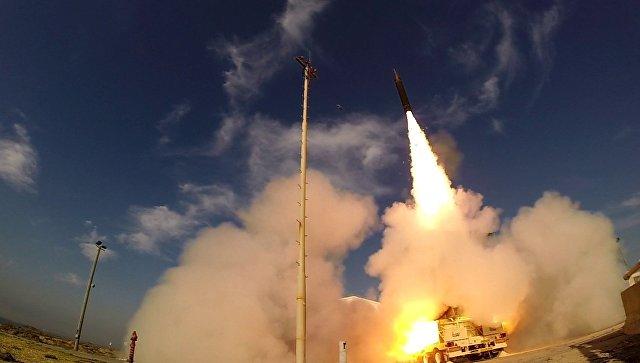 Испытания противоракетного комплекса Хец-3 (Стрела-3, Arrow-3). Архивное фото