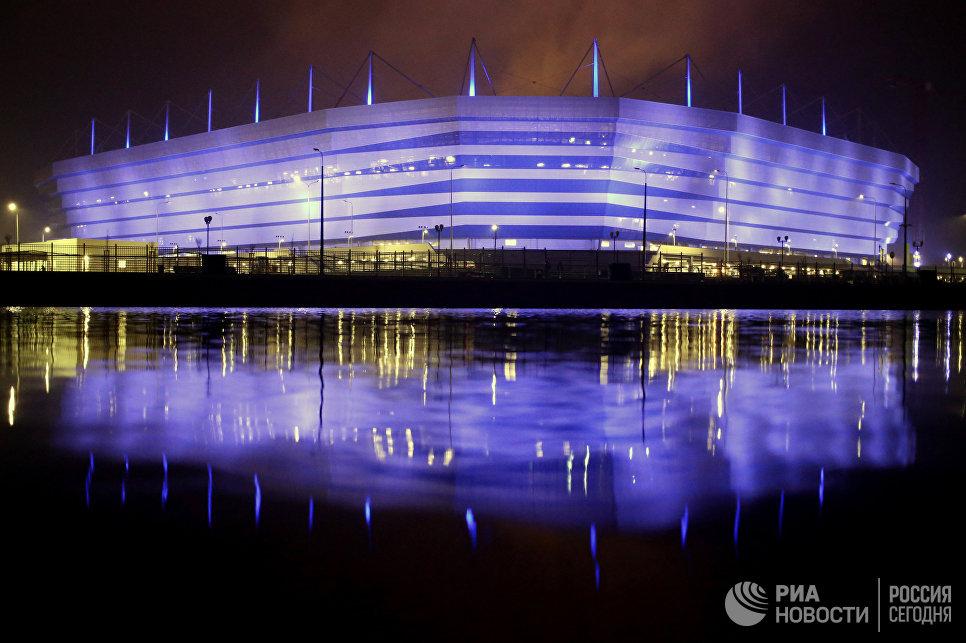 Стадион для матчей ЧМ-2018 на острове Октябрьский в Калининграде