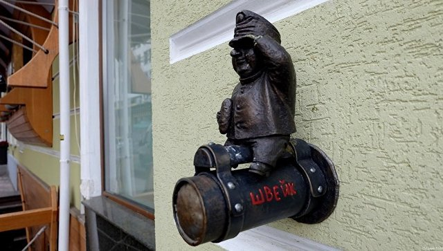 В Одессе похитили мини-скульптуру бравого солдата Швейка