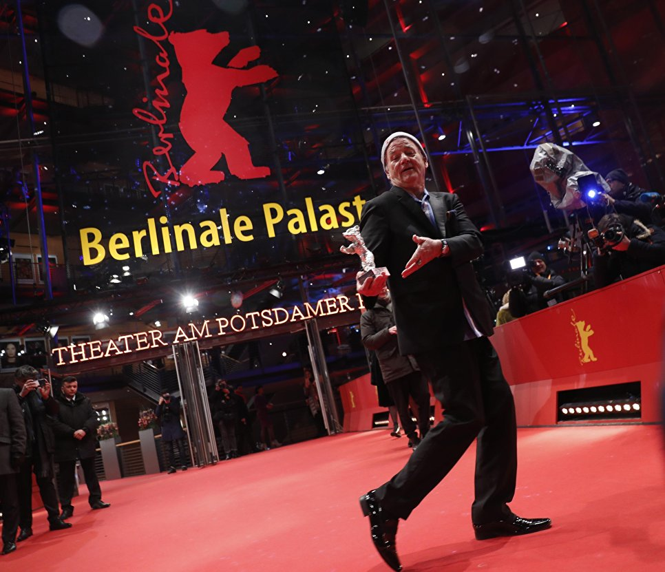 Актер Билл Мюррей на церемонии награждения 68-го Берлинского международного кинофестиваля Берлинале - 2018