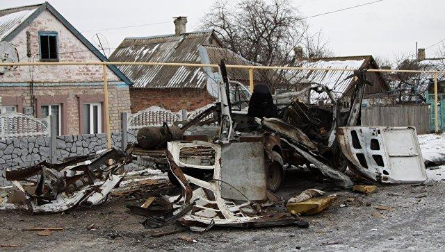 La situazione nel Donbass.  Foto d'archivio