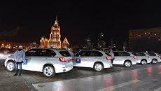 Автомобили немецкой марки BMW, подаренные российским спортсменам - победителям и призерам XXIII зимних Олимпийских игр в Пхенчхане