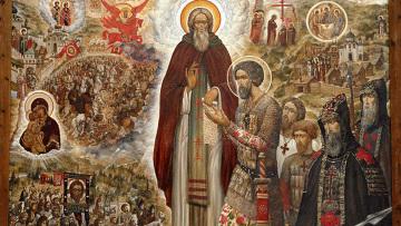 Икона Святые Сергий Радонежский и Дмитрий Донской. Архив