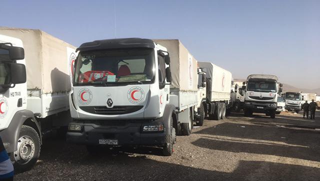Гуманитарный конвой Красного полумесяца в Сирии. 5 марта 2018