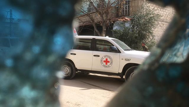 Гуманитарный конвой Красного полумесяца в Восточной Гуте, Сирия. 5 марта 2018