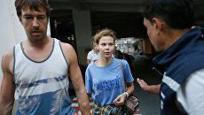 Анастасия Вашукевич и Александр Кириллов в иммиграционном центре в Бангкоке. Архивное фото