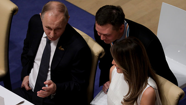 Владимир Путин поведал отемах, которые онобсудил сМеланией Трамп