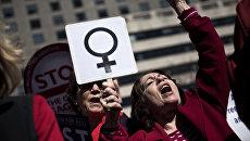 Митинг за права женщин. Архивное фото