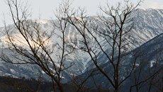 Горы в Итум-Калинском районе Чечни