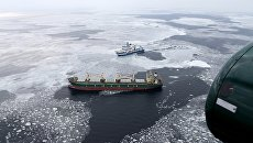 Грузовое судно под флагом Панамы, которое терпит бедствие в водах Финского залива