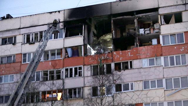 Жилой дом на улице Народного Ополчения в Санкт-Петербурге, где произошел взрыв газа. Архивное фото