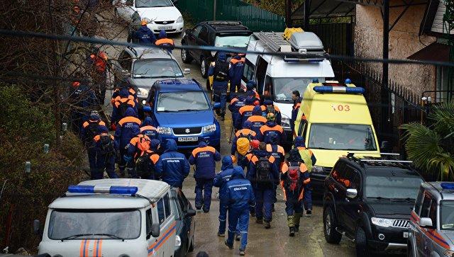Поисковая операция по розыску пропавшей девочки в Сочи.