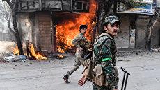 Бойцы поддерживаемой Турцией Свободной армии Сирии в Африне, Сирия. 18 марта 2018