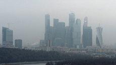 Вид на Московский международный деловой центр Москва-Сити с Воробьевых гор