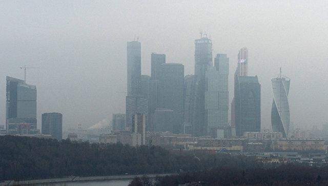 ид на Московский международный деловой центр Москва-Сити с Воробьевых гор