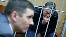 Гендиректор фирмы Интекс группы Сумма Артур Максидов во время рассмотрения ходатайства об аресте в Тверском районном суде Москвы. 31 марта 2018