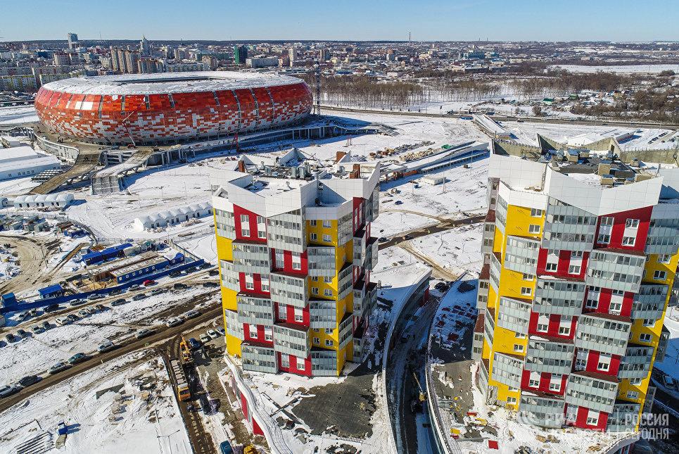 Состоялся 1-ый  тестовый матч наарене ЧМ-2018 вСаранске