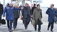 Губернатор Свердловской области Евгений Куйвашев встречает делегацию инспекционной комиссии Международного Бюро выставок (МБВ)