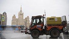 Мойка тротуара шампунем в Москве